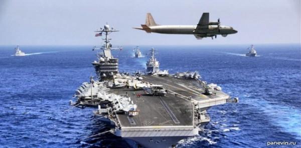 Американский атомный авианосец «Джордж Вашингтон»