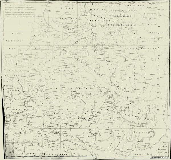 Карта Малороссии, часть древней российской карты