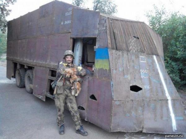 Бронированный «КамАЗ» батальона МВД Украины «Днепр-1»
