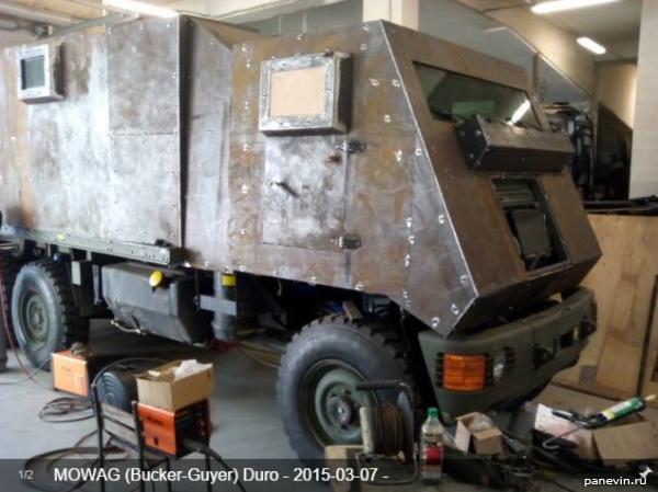 Бронированный грузовик ВСУ
