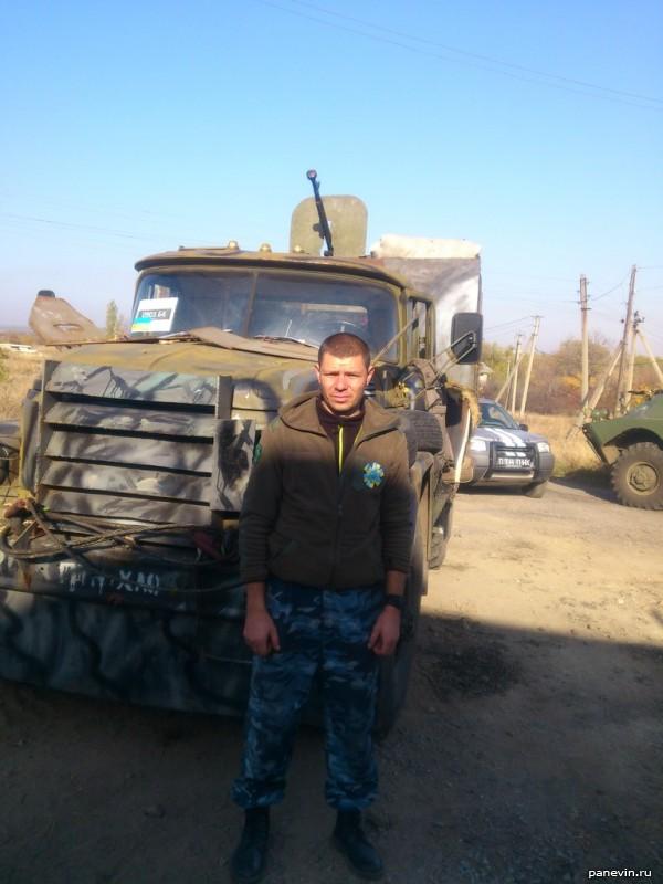Бронированный Урал с пулемётом ДШК