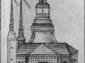 Деревянный собор Петра и Павла в Петропавловской крепости. Гравюра из «Описания Петербурга» издания 1779 года