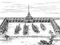 Гравюра с изображением Адмиралтейства второй постройки (архтитектор Герман ван Болес). 1719—1738 гг.