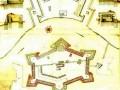 План Петропавловской (Санкт-Петербургской) крепости. Составлен шведами, из собрания стокгольмского Королевского военного архива