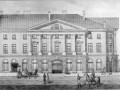 «Дом с четырьмя колоннадами со стороны Итальянской улицы». Акварель неизвестного художника. 1820-е гг
