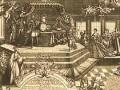 Коронация Екатерины I (с гравюры А. Зубова)