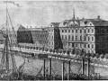 Шляхетский корпус в Петербурге (б. Меньшиковский дворец). Гравюра с рисунка М. Махаева