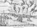 Большой пожар в городе Петербурге в 1737 г. Иллюстрация из книги М. И. Пыляева «Старый Петербург».