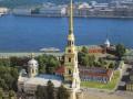Петропавловский собор, вид с вертолёта. Снимок 90-х годов XX века. Автор не известен.