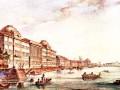 Акварель И. Мошкова(?) (конец XVIII века). Морской Кадетский корпус (дворец Миниха).