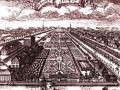 Летний дворец Петра I и Летний сад. Гравюра А.Зубова. 1716-1717