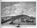 Проект моста инженера Кулибина через Неву. Гравюра 1776 года.