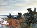 Екатерина на соколиной охоте. Картина В. Серова