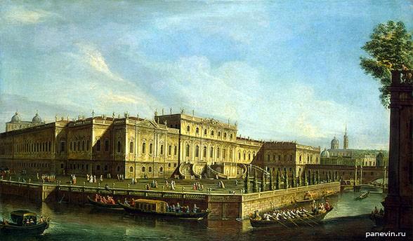 Летний дворец Елизаветы Петровны . М. И. Махаев (1756 год)