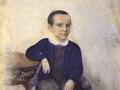 И.С. Тургенев в возрасте 7-ми лет (?). Неизв. художник. 1825. Акварель 26,5х19,7