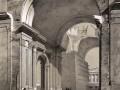 Вид разборки и сохраненных частей предыдущей Исаакиевской церкви. Литография по рисунку Монферрана