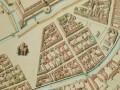 Новый план улиц города Санкт-Петербурга. Литография, раскрашенная от руки. 1826 год.