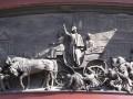 «Николай I на Сенной площади во время холерного бунта 1831 года» (западная сторона постамента Николаю I).