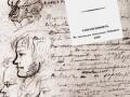 Коллаж: рукопись романа «Евгений Онегин» и титульная страница издания книги