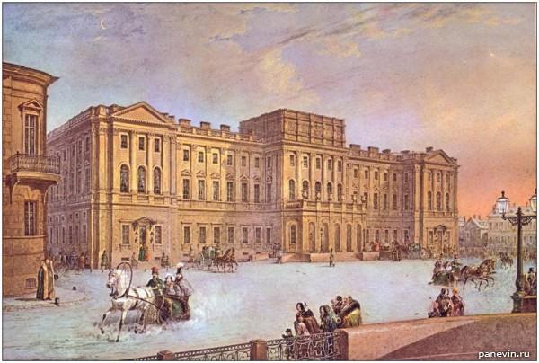 Мариинский дворец. В. С. Садовников, 1847 год