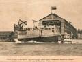 Спуск на воду на Балтийском судостроительном заводе нового эскадренного броненосца «Победа», фото К. Буллы 11 (24) мая 1900