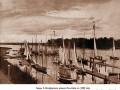 Гавань Санкт-Петербургского речного яхт-клуба в 1889 году. Справа — один из основателей клуба Цезарь Альбертович Кавос