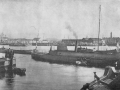 Спуск на воду канонерской лодки «Опыт», 1861