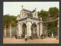 Часовня императора Александра II у ворот Летнего сада, открытка XIX века