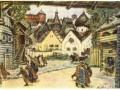 Эскиз декорации к опера П. И. Чайковского «Опричник», А. М. Васнецов