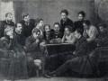 Чехов читает «Чайку» артистам Московского Художественного театра. Фотография. 1898