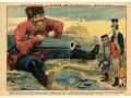Плакат Русско-японской войны, 1904 года, «Посидим у моря, подождём погоды»