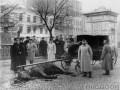Карета казначейства с убитой лошадью после нападения эсеров на набережной Екатерининского канала. 1906 год, Петербург. ЦГАКФФД