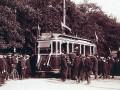 Открытие первой линии трамвая в Петербурге. 1907 год. Фото К. Буллы