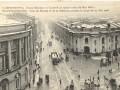 Открытка — пересечение Невского проспекта и Садовой улицы, снегопад 6 июня 1908 года