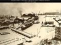 Линкоры «Гангут» и «Полтава» в период достройки у заводских причалов. Зима 1911–1912 годов
