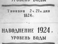 Памятная доска наводнениям 1824 и 1924 гг. (Аптекарский проспект, 1)