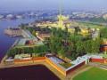 Петропавловская крепость, вид с воздуха