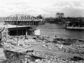 Постройка моста Володарского, 1936 год