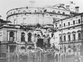 Здание Мариинского (в то время Кировского) театра, разрушенное бомбой 19 сентября 1941 года