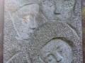 Фрагмент надгробия могилы детей, погибших 9 мая 1942 года. Смоленское кладбище.