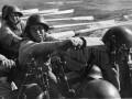 Бойцы балтфлота во время высадки на берег. Балтика, 1943 г