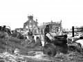 Вокзал, артиллеристы Советской Армии в Красном селе, 19 января 1944. Фотография из архива Новожилова Бориса Васильевича