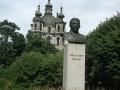 Бюст Сталина в сквере у Смольного.