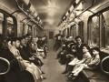 Салон вагона типа Д, самые распространённые вагоны того времени
