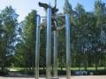 На Пискарёвском проспекте открыт памятник «Колокол Мира»