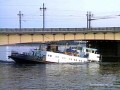 Сухогруз «Каунас» после столкновения с опорой Литейного моста