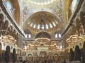 Первая литургия в возвращённом верующим Никольском Морском соборе Кронштадта