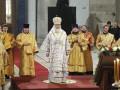 Патриарх Кирилл совершил литургию в восстанавливаемом Свято-Никольском Морском соборе в Кронштадте
