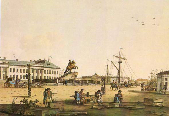 Медный всадник, Рисунок XVIII века