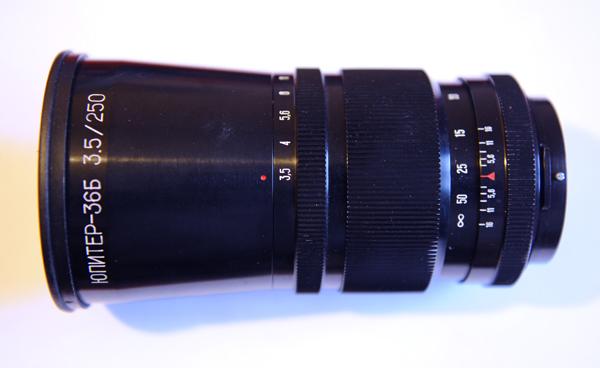 Дальнобойный объектив Юпитер-36Б f 3.5 / 250